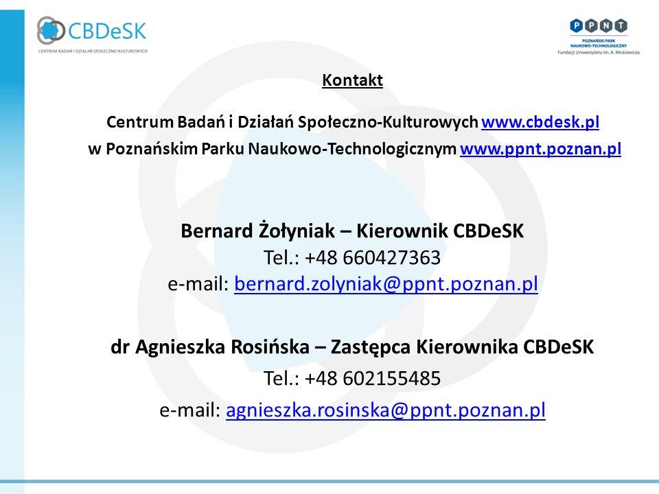 dr Agnieszka Rosińska – Zastępca Kierownika CBDeSK