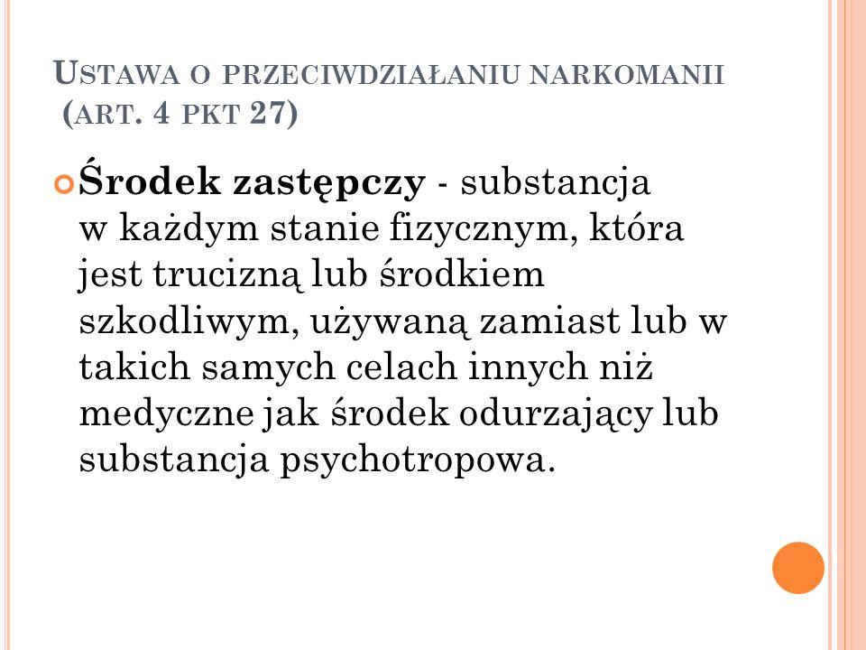 Ustawa o przeciwdziałaniu narkomanii (art. 4 pkt 27)