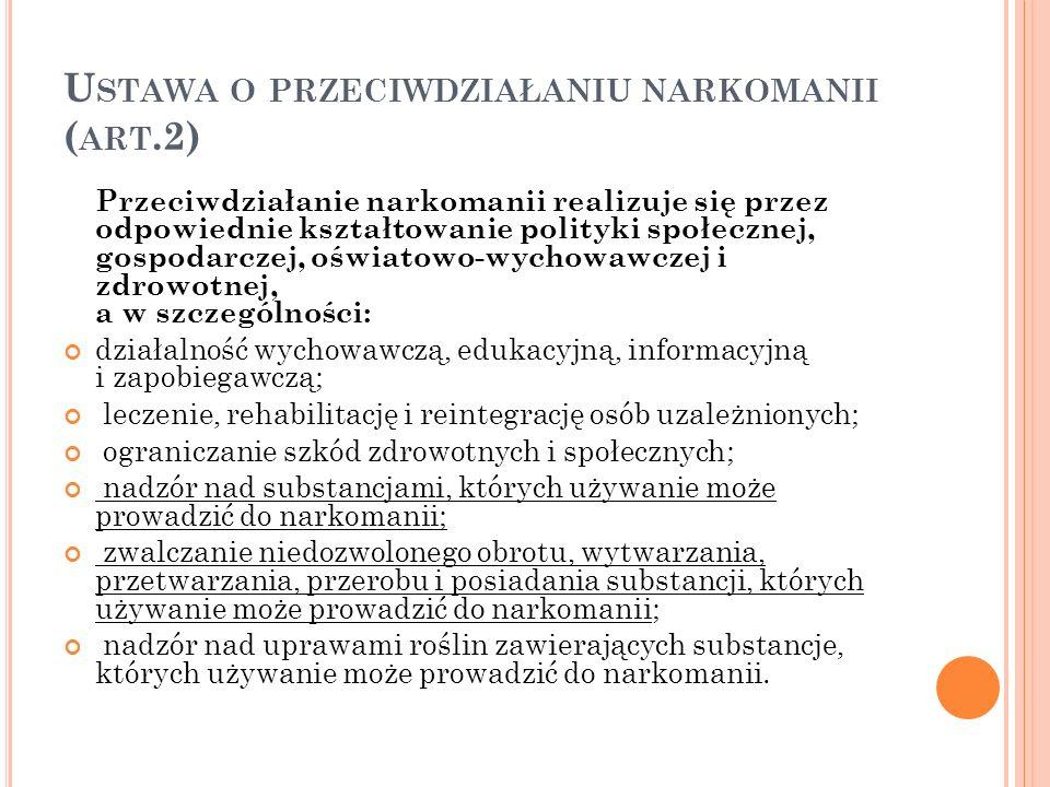 Ustawa o przeciwdziałaniu narkomanii (art.2)