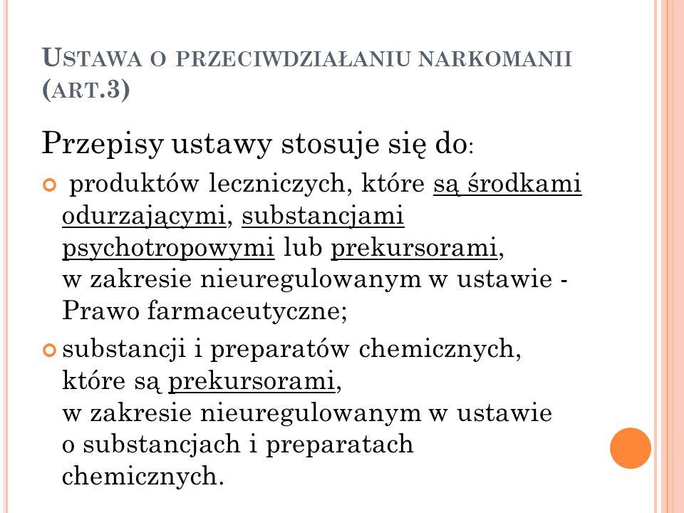 Ustawa o przeciwdziałaniu narkomanii (art.3)