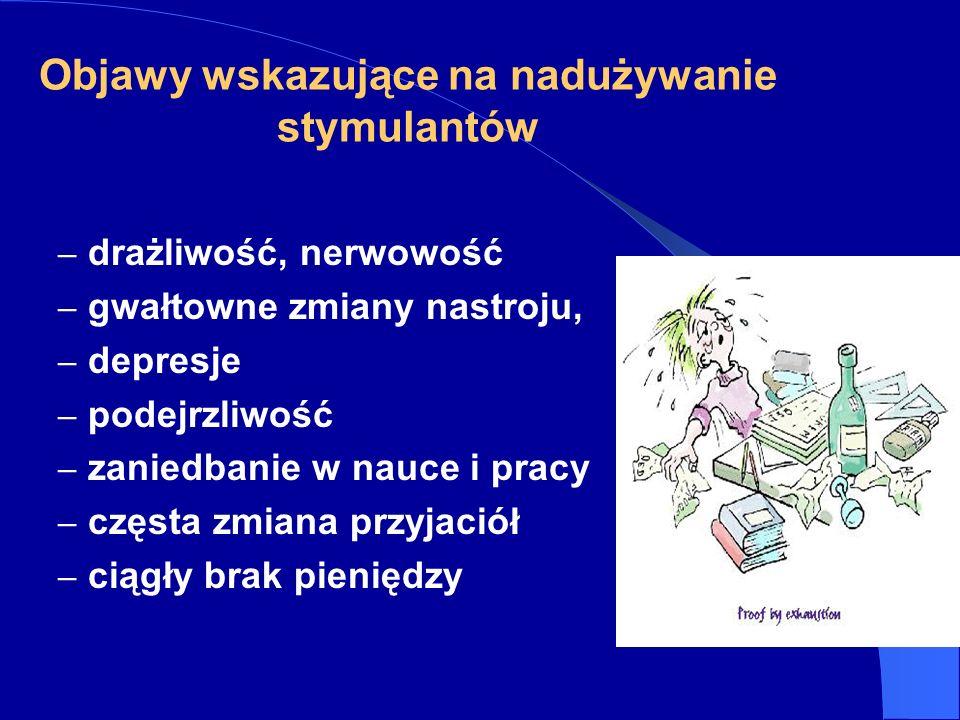 Objawy wskazujące na nadużywanie stymulantów