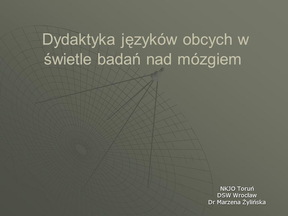 Dydaktyka języków obcych w świetle badań nad mózgiem