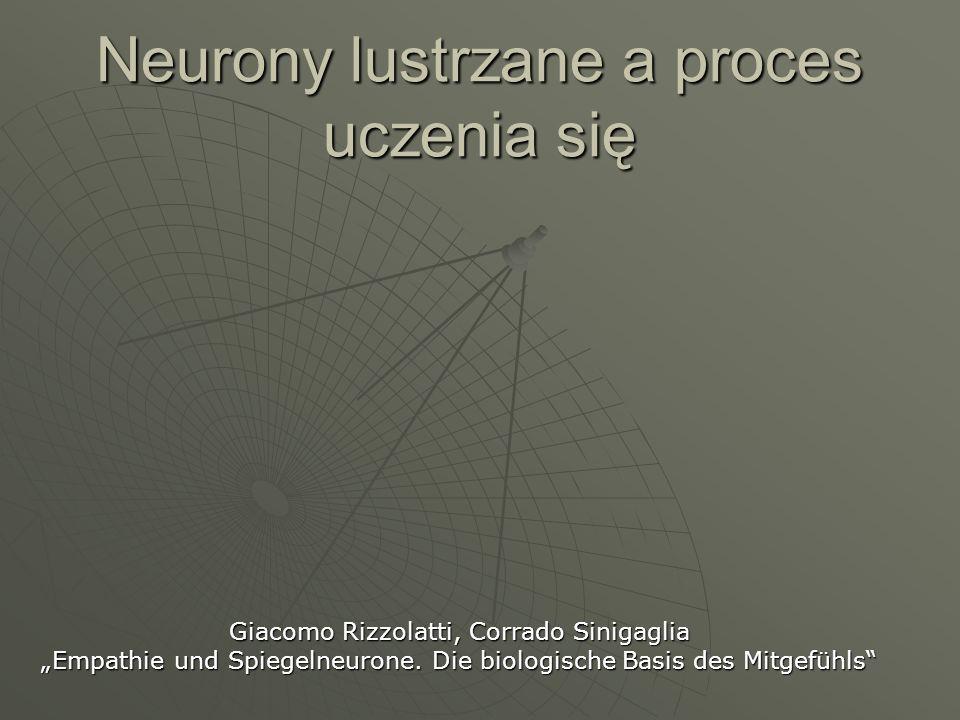 Neurony lustrzane a proces uczenia się