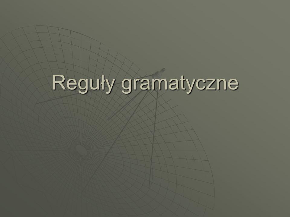 Reguły gramatyczne