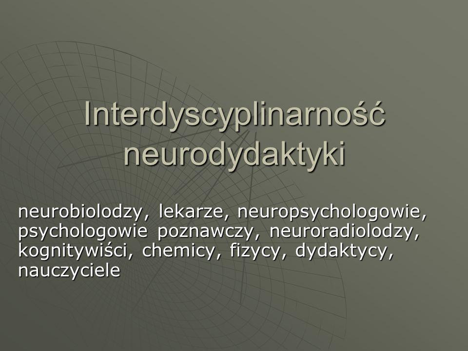 Interdyscyplinarność neurodydaktyki