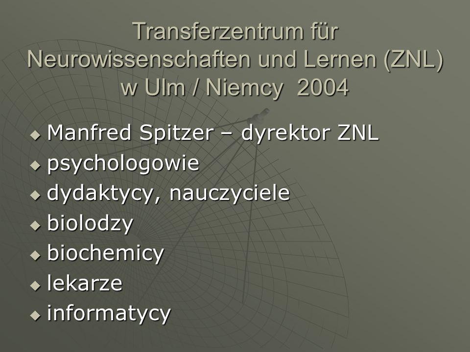 Transferzentrum für Neurowissenschaften und Lernen (ZNL) w Ulm / Niemcy 2004