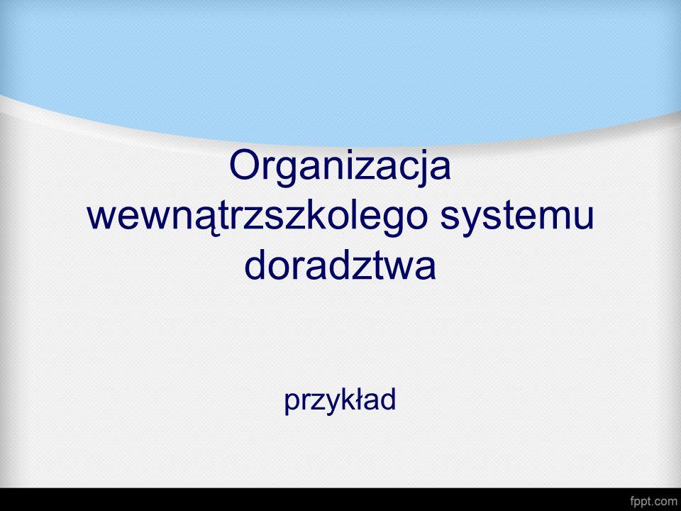 Organizacja wewnątrzszkolego systemu doradztwa