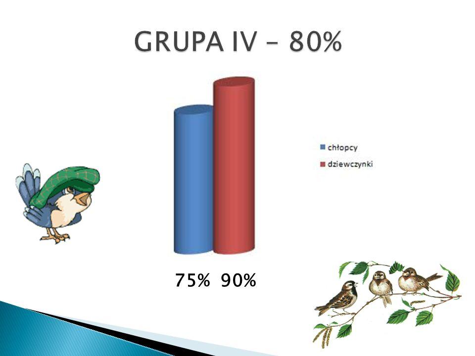GRUPA IV – 80% 75% 90%