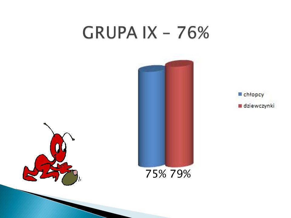 GRUPA IX – 76% 75% 79%