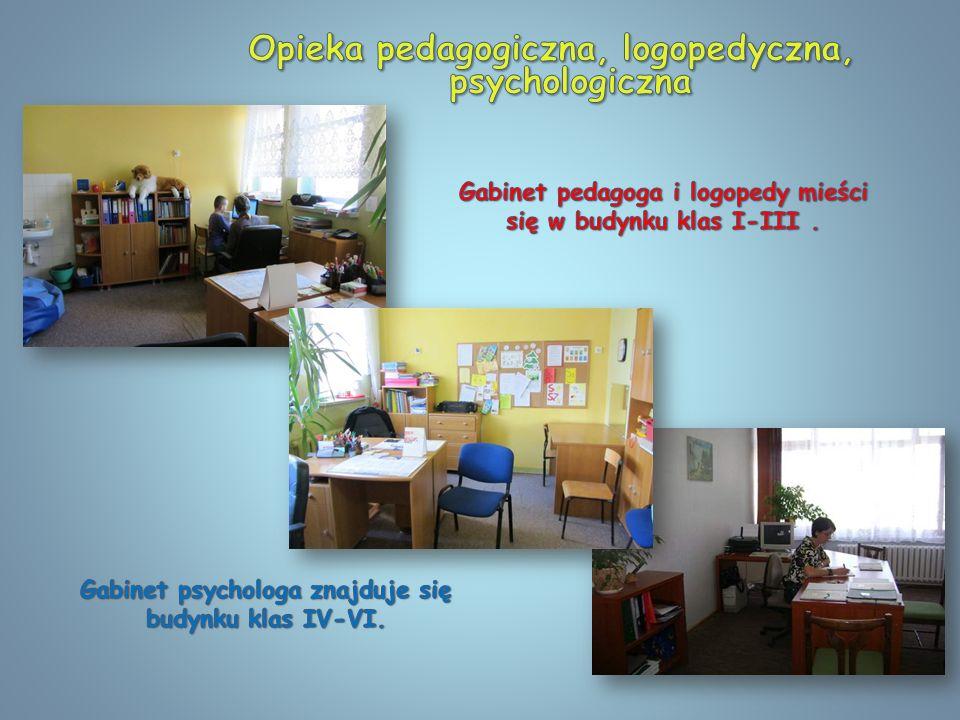 Opieka pedagogiczna, logopedyczna, psychologiczna