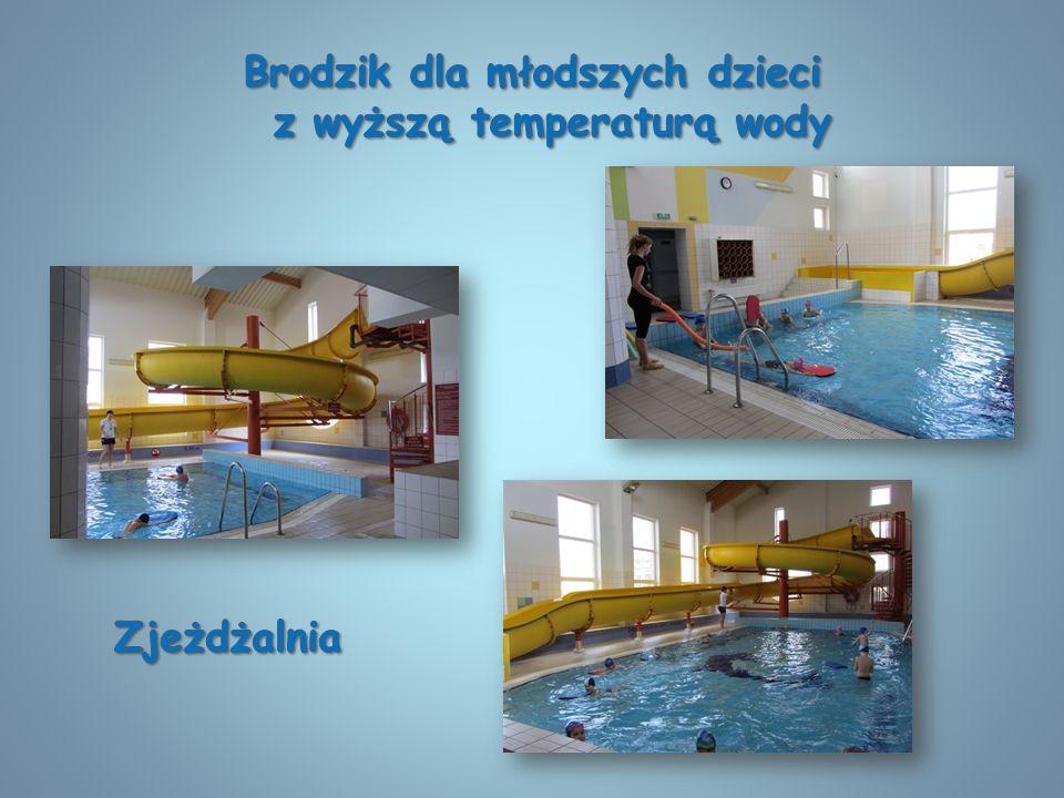 Brodzik dla młodszych dzieci z wyższą temperaturą wody