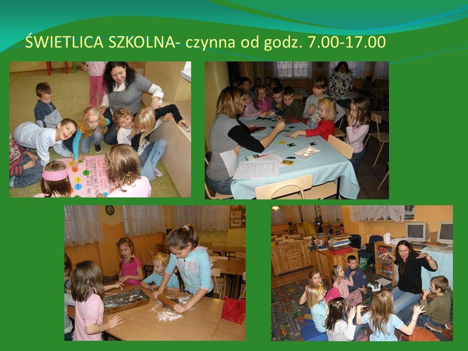 ŚWIETLICA SZKOLNA- czynna od godz. 7.00-17.00