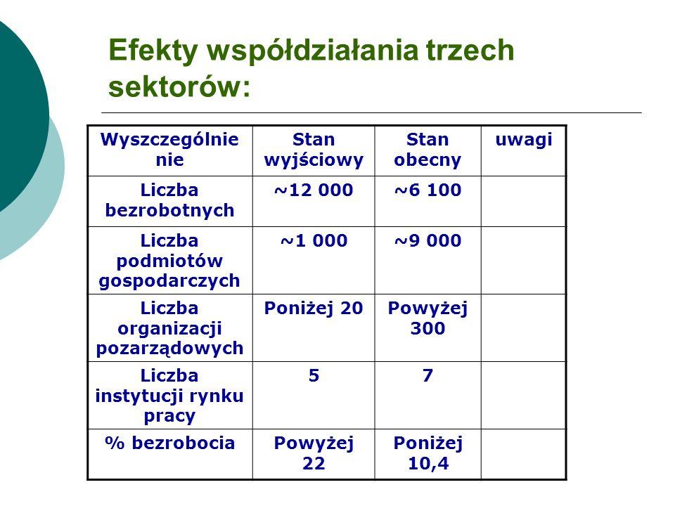 Efekty współdziałania trzech sektorów: