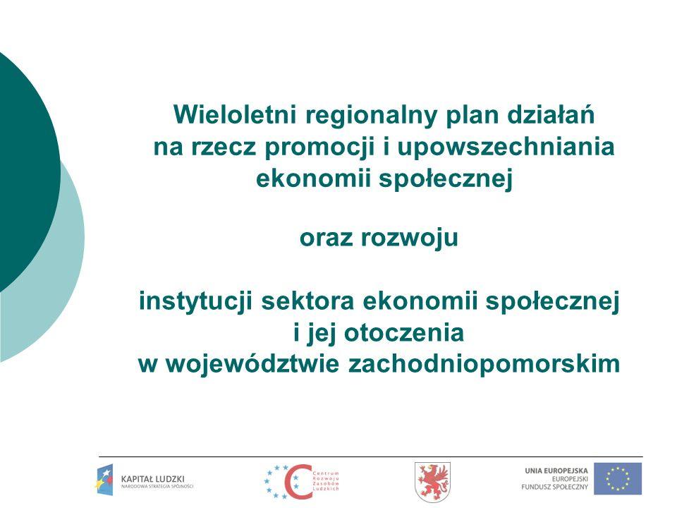 Wieloletni regionalny plan działań na rzecz promocji i upowszechniania ekonomii społecznej