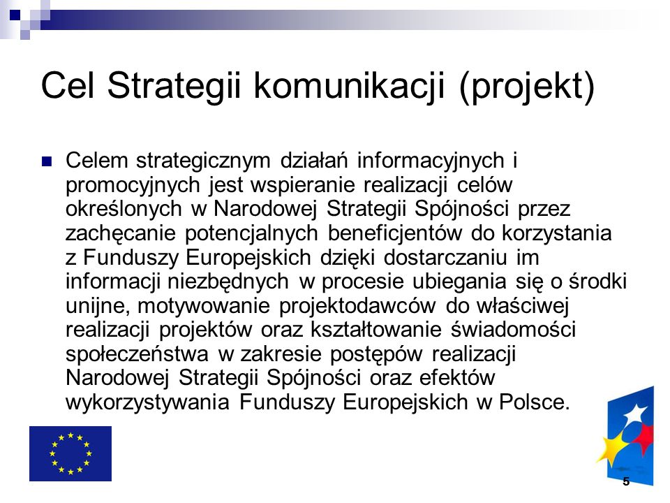Cel Strategii komunikacji (projekt)