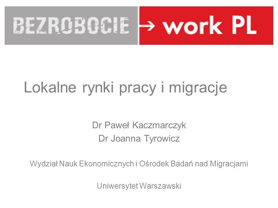 Lokalne rynki pracy i migracje