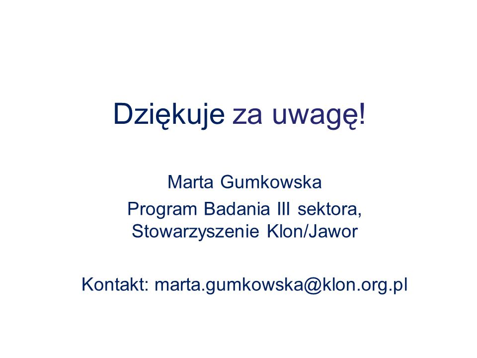 Dziękuje za uwagę! Marta Gumkowska