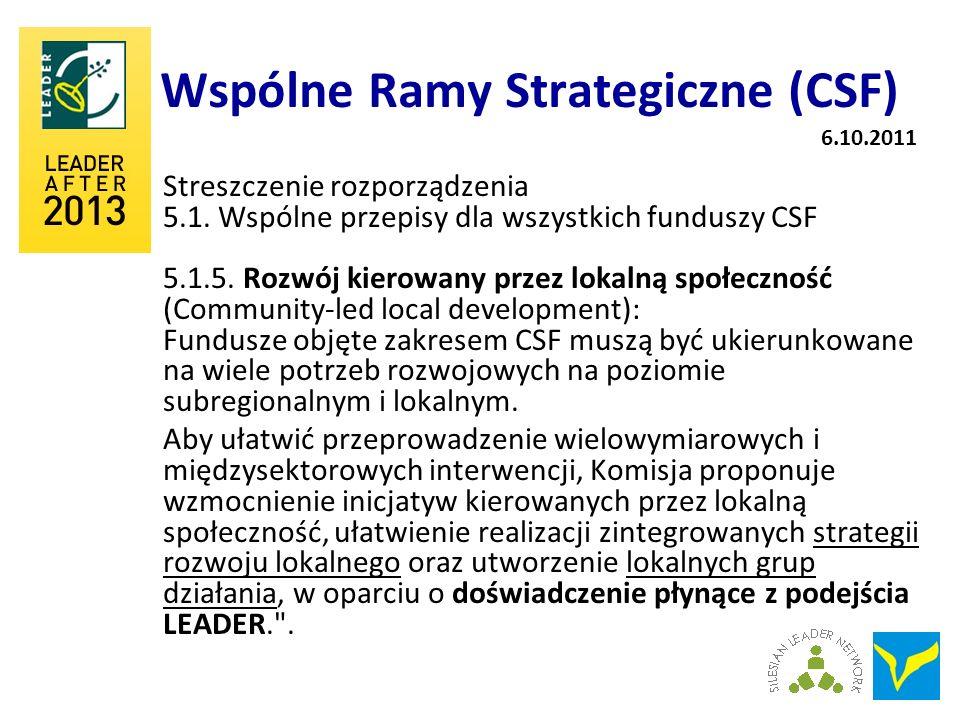 Wspólne Ramy Strategiczne (CSF)