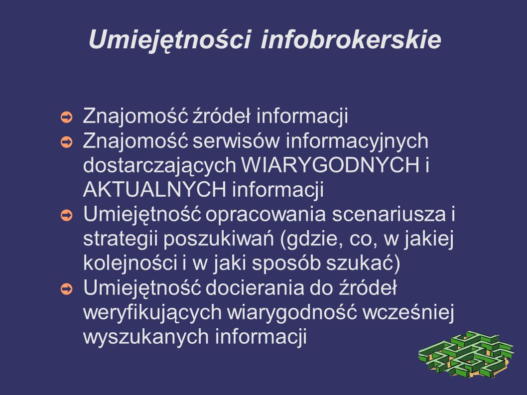 Umiejętności infobrokerskie