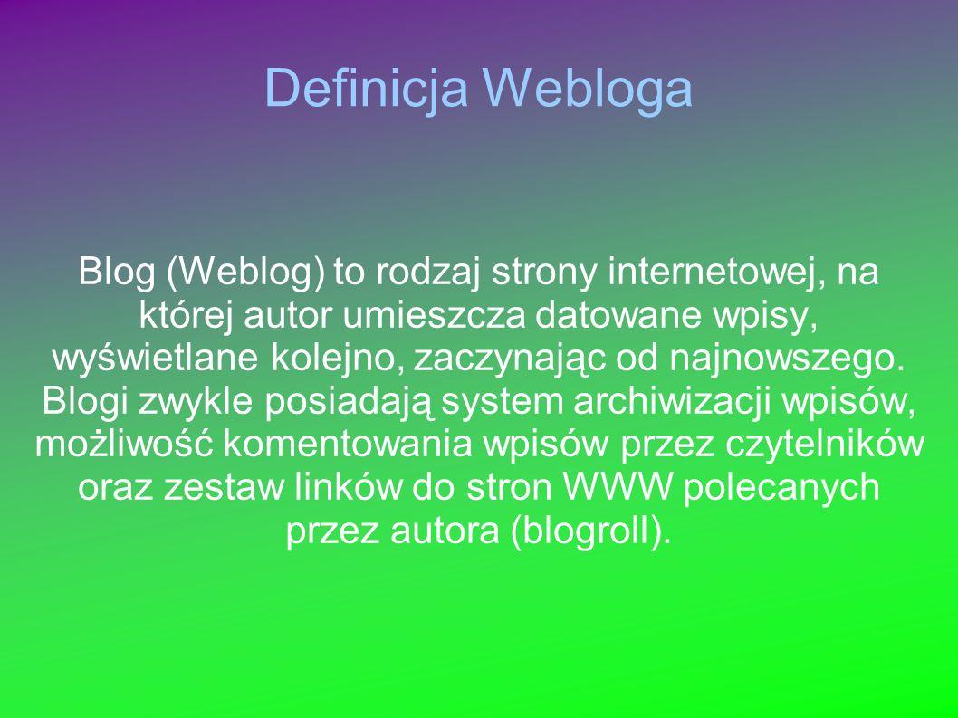 Definicja Webloga