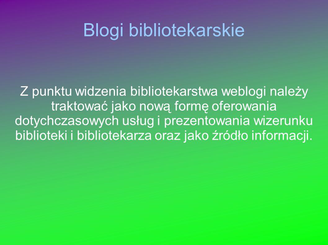 Blogi bibliotekarskie