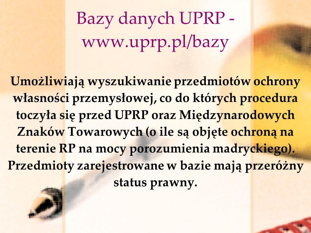 Bazy danych UPRP - www.uprp.pl/bazy