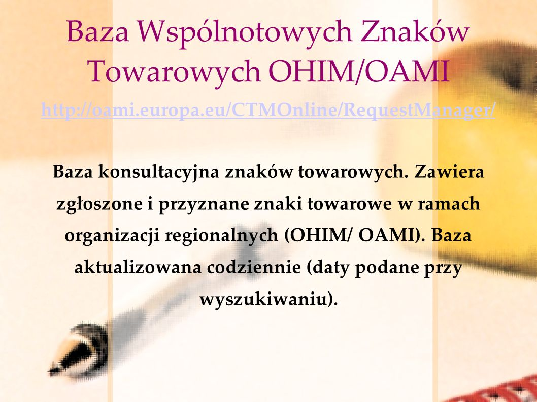 Baza Wspólnotowych Znaków Towarowych OHIM/OAMI