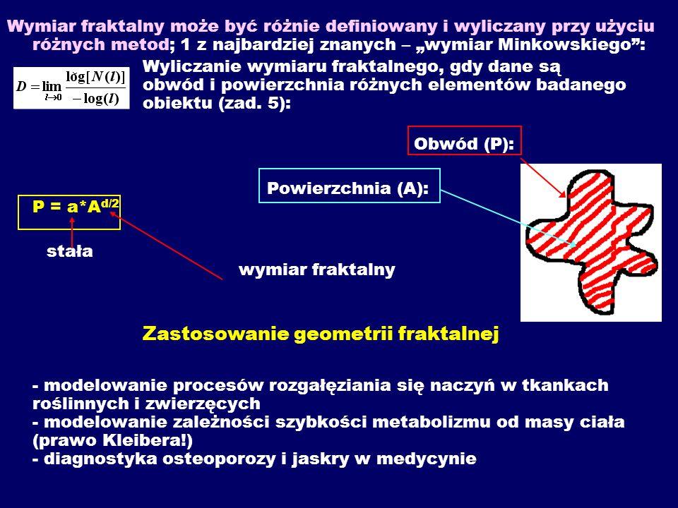 """Wymiar fraktalny może być różnie definiowany i wyliczany przy użyciu różnych metod; 1 z najbardziej znanych – """"wymiar Minkowskiego :"""