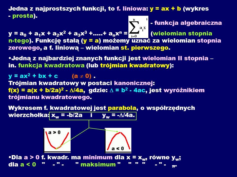 Jedna z najprostszych funkcji, to f
