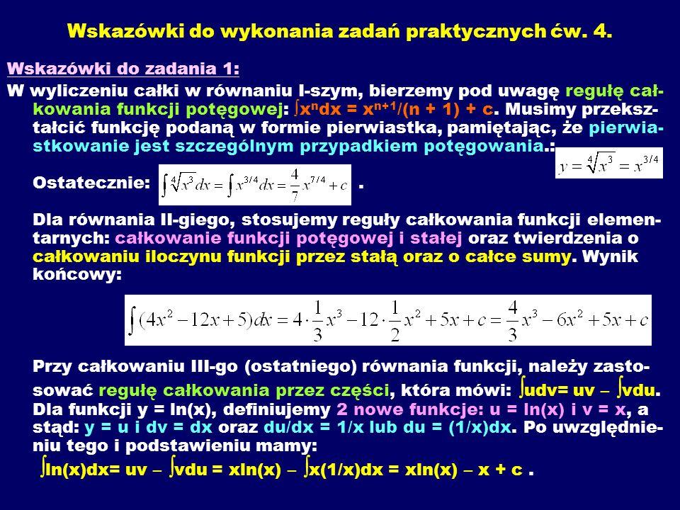 Wskazówki do wykonania zadań praktycznych ćw. 4.