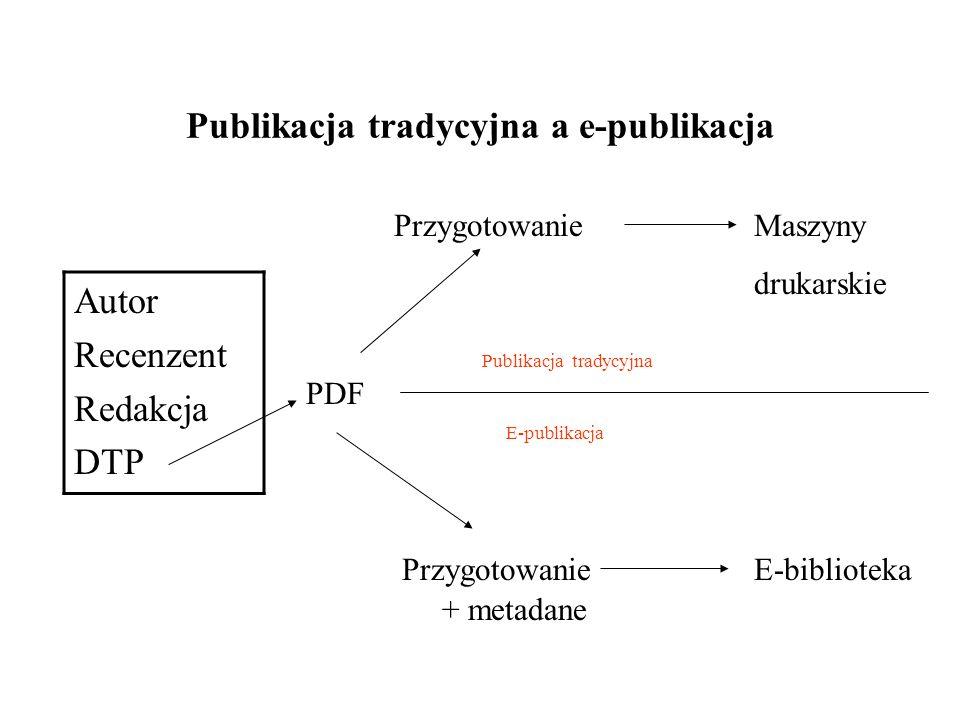 Publikacja tradycyjna a e-publikacja