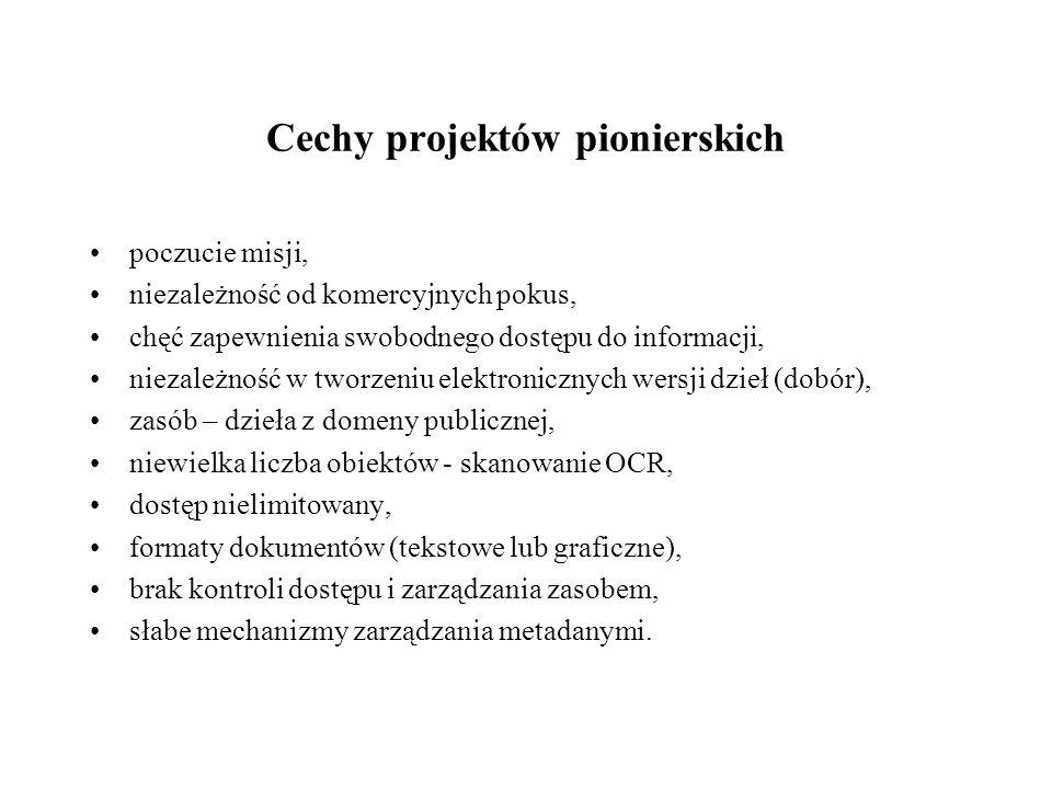 Cechy projektów pionierskich