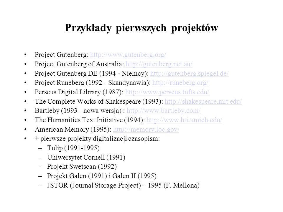 Przykłady pierwszych projektów