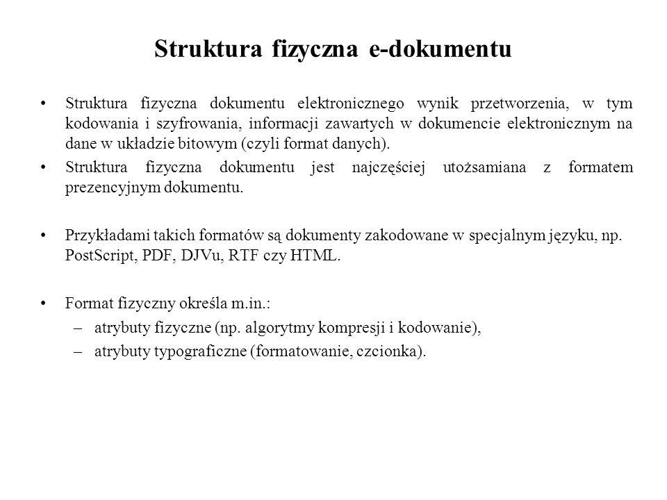 Struktura fizyczna e-dokumentu