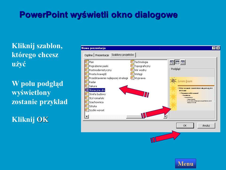 PowerPoint wyświetli okno dialogowe
