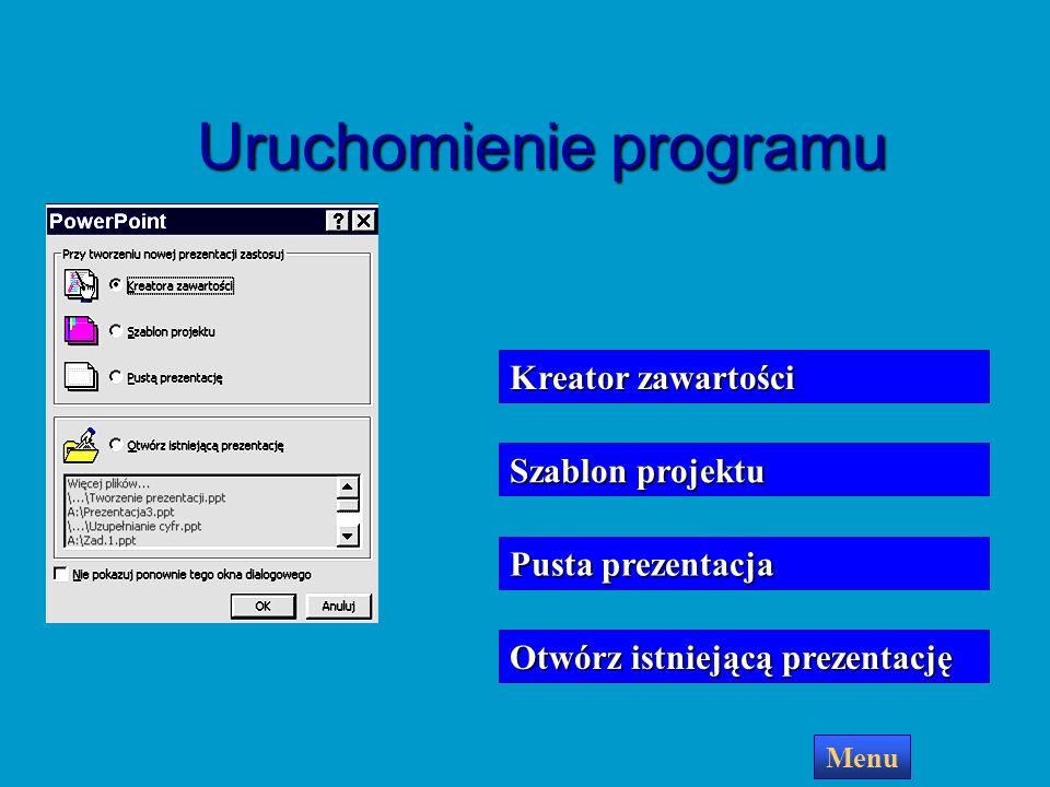 Uruchomienie programu