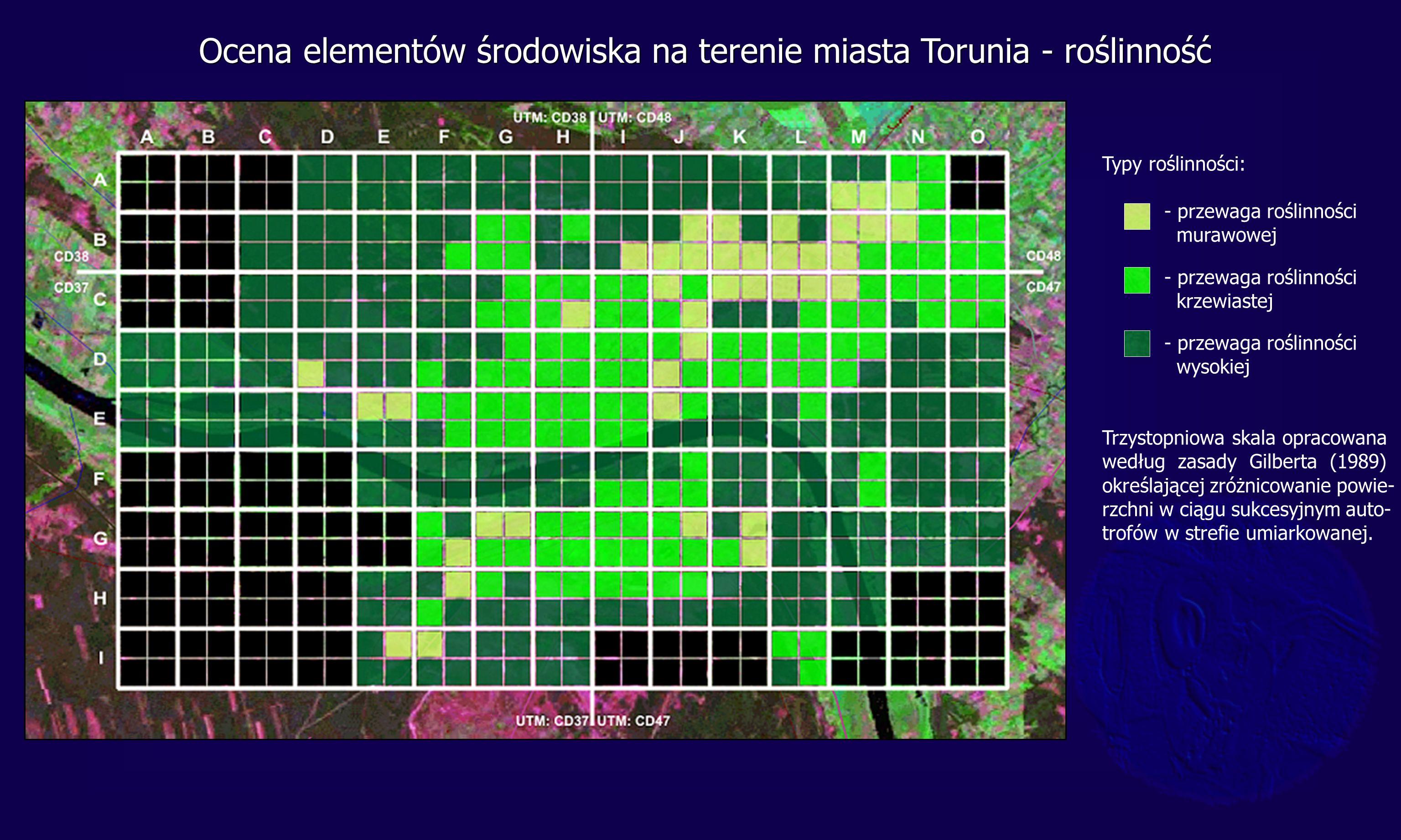 Ocena elementów środowiska na terenie miasta Torunia - roślinność
