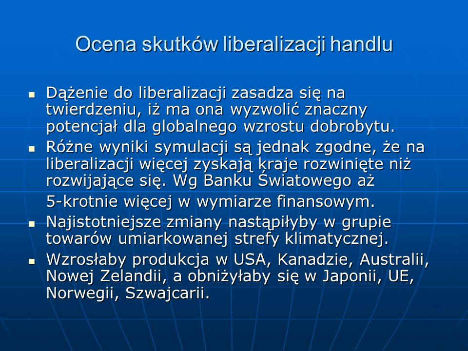 Ocena skutków liberalizacji handlu