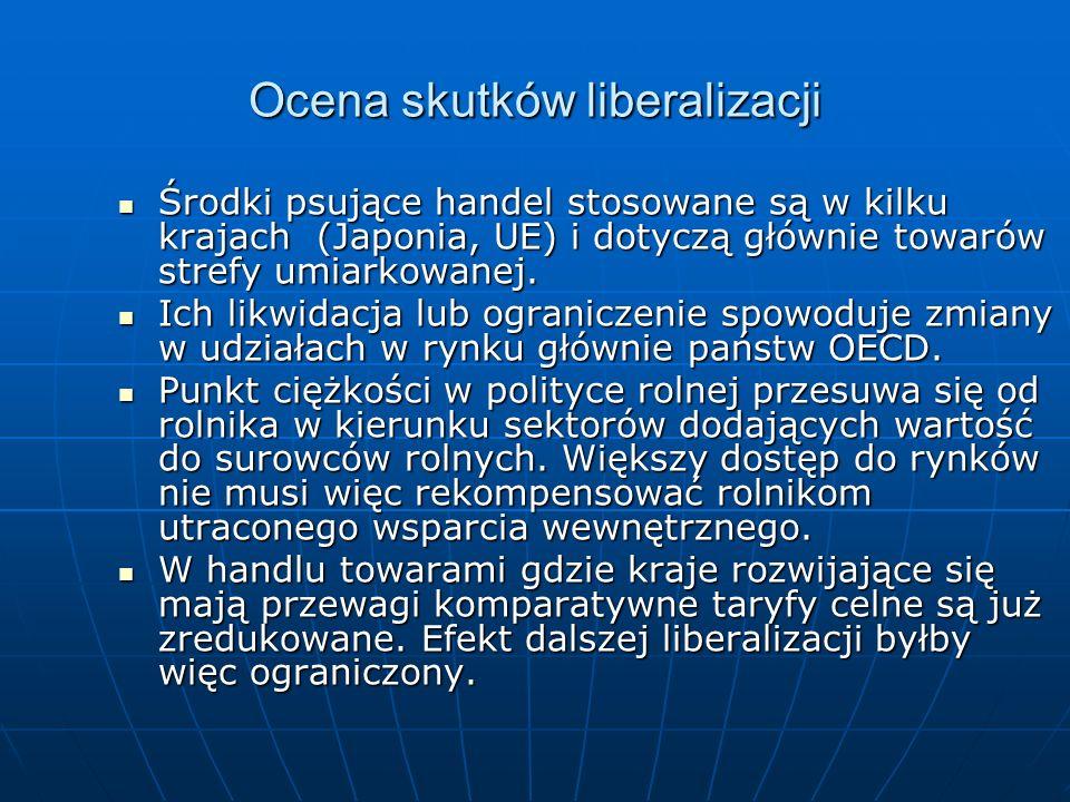 Ocena skutków liberalizacji