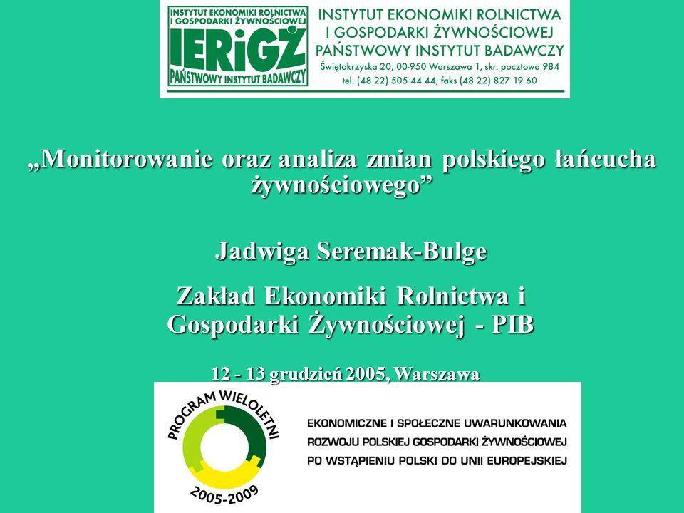 """""""Monitorowanie oraz analiza zmian polskiego łańcucha żywnościowego"""