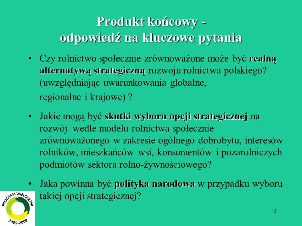 Produkt końcowy - odpowiedź na kluczowe pytania