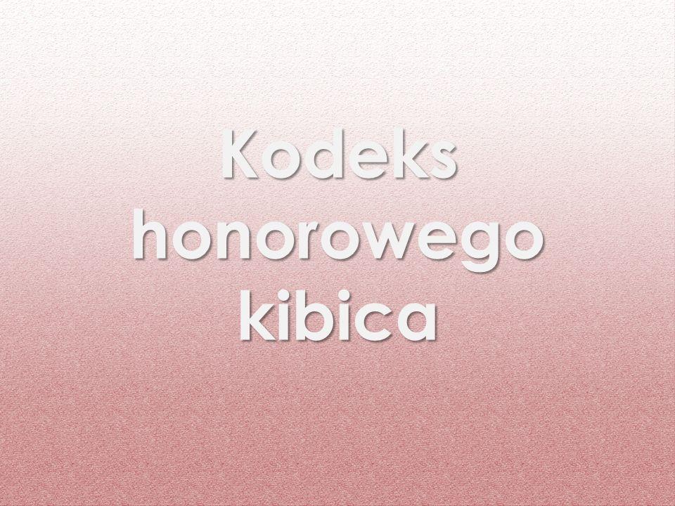 Kodeks honorowego kibica