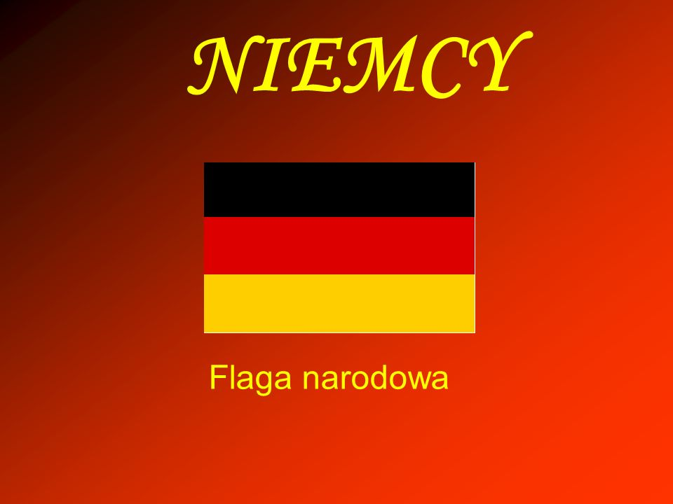 NIEMCY Flaga narodowa