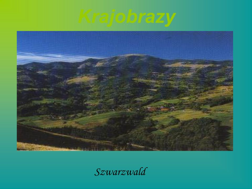 Krajobrazy Szwarzwald