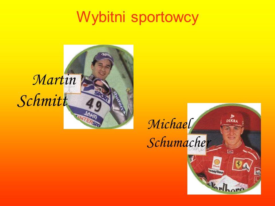Wybitni sportowcy Martin Schmitt Michael Schumacher