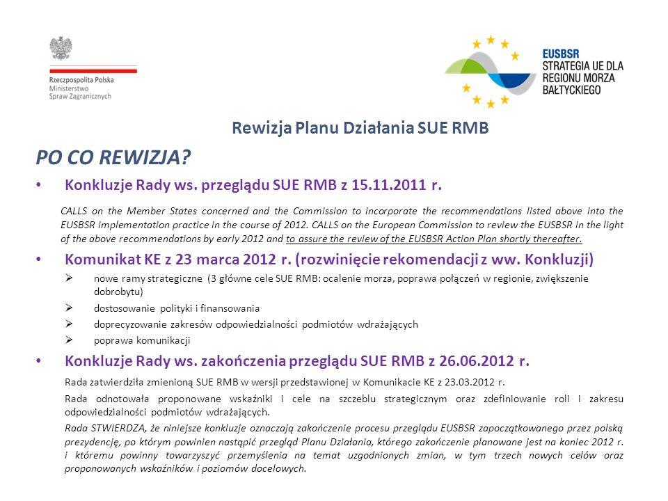 Rewizja Planu Działania SUE RMB