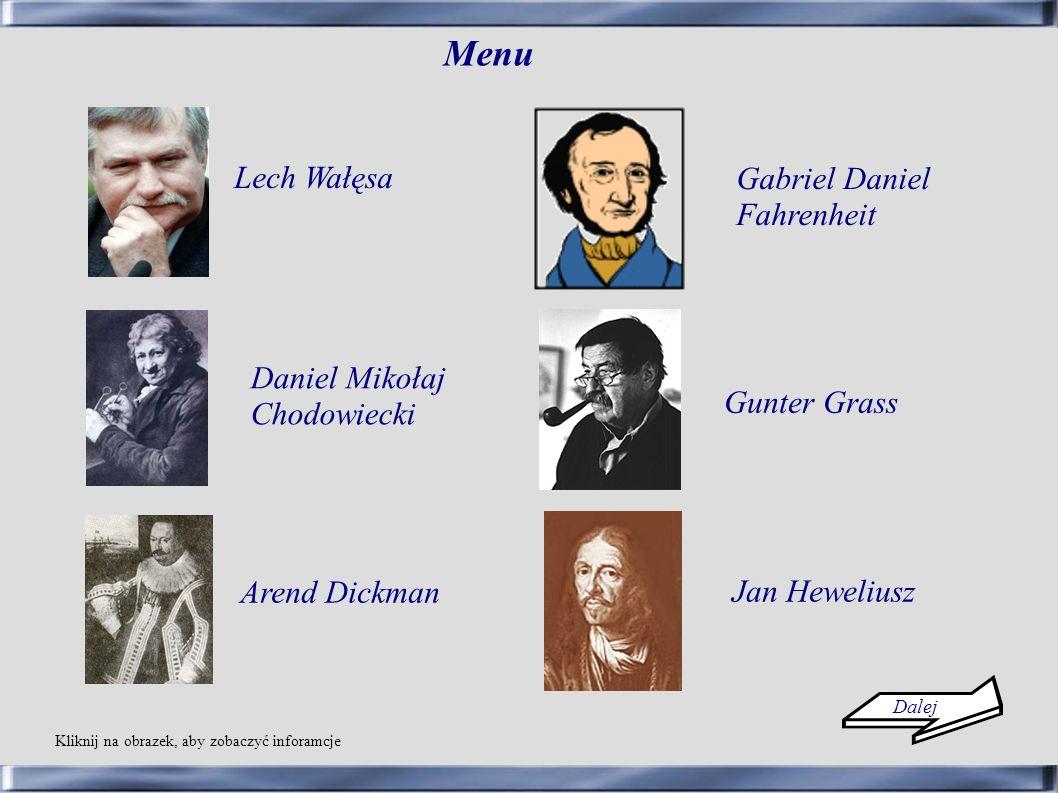 Menu Lech Wałęsa Gabriel Daniel Fahrenheit Daniel Mikołaj Chodowiecki