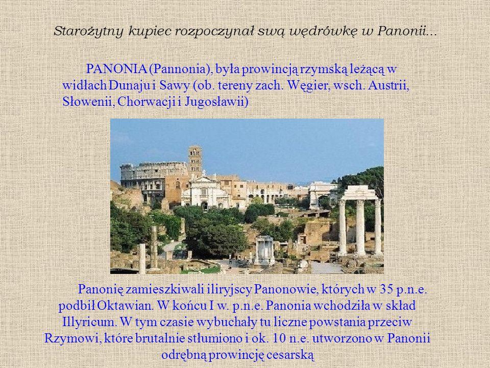Starożytny kupiec rozpoczynał swą wędrówkę w Panonii...