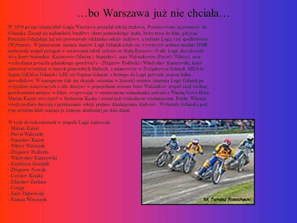 …bo Warszawa już nie chciała…