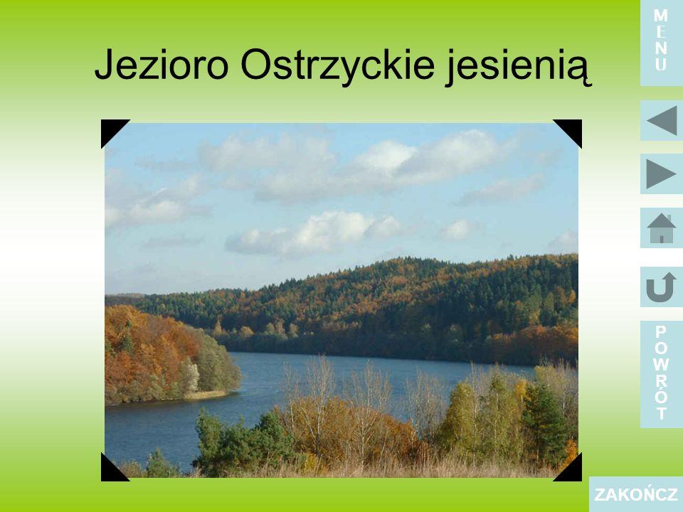 Jezioro Ostrzyckie jesienią